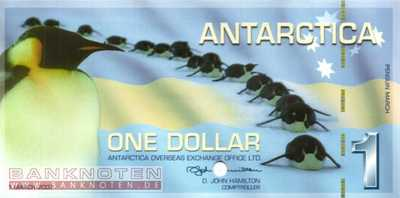 Antarctica - 1  Dollar - SPECIMEN (#014aS_UNC)