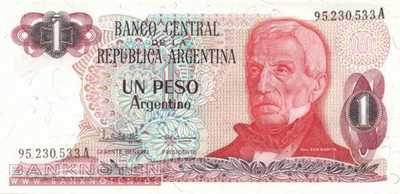 Argentinien - 1  Peso Argentino (#311a-A-U1_UNC)