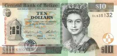Belize - 10  Dollars (#068e_UNC)
