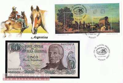 Banknote cover - 5  Pesos (#ARG01_UNC)