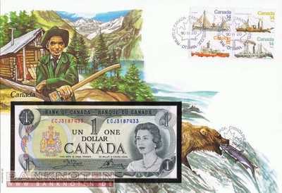 Banknote Cover Canada - 1  Dollar (#CAN01_UNC)