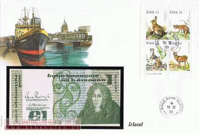 Banknote Cover Ireland - 1  Pound (#IRL01_UNC)