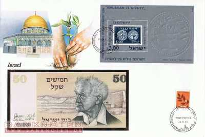Banknote cover - Israel - 50  Sheqel (#ISR01_UNC)