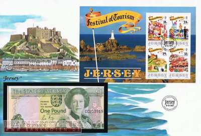 Banknote Cover Jersey - 1  Pound (#JER01_UNC)