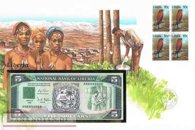Banknote Cover Liberia - 5  Dollars (#LBR01_UNC)