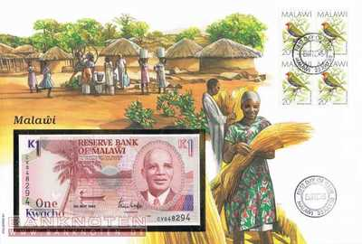 Banknote Cover Malawi - 1  Kwacha (#MLW01_UNC)