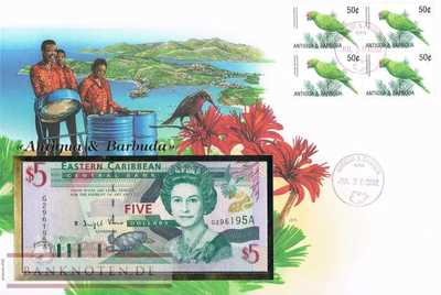 Banknote Cover Antigua & Barbuda - 1  Dollar (#OKS02_UNC)