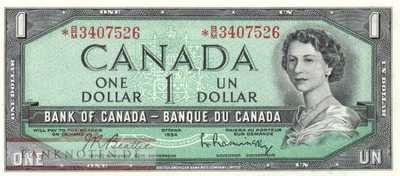 Canada - 1  Dollar - Replacement (#075bR_UNC)
