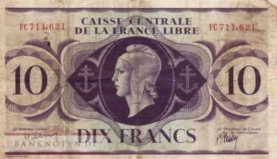 French Equatorial Africa - 10  Francs (#011a_F)