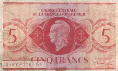 French Equatorial Africa - 5  Francs (#015c_F)