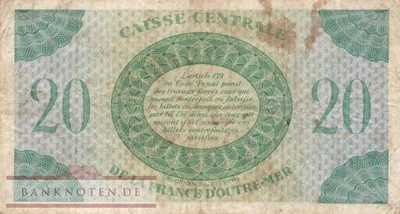 French Equatorial Africa - 20  Francs (#017b_F)