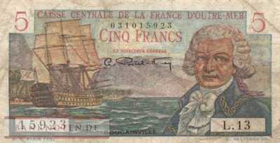 French Equatorial Africa - 5  Francs (#020Bd_F)