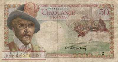 French Equatorial Africa - 50  Francs (#023_VG)