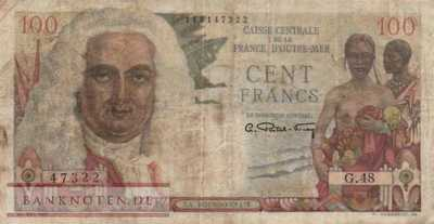 French Equatorial Africa - 100  Francs (#024_F)