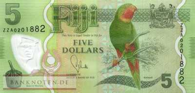 Fiji - 5  Dollars - Replacement (#115R_UNC)