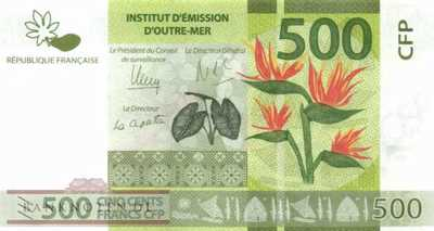 French Pacific Territories - 500  Francs (#005a_UNC)
