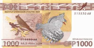 French Pacific Territories - 1.000  Francs (#006a_UNC)