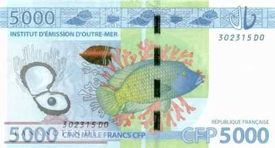 French Pacific Territories - 5.000  Francs (#007a_UNC)