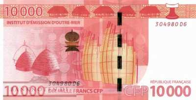French Pacific Territories - 10.000  Francs (#008a_UNC)