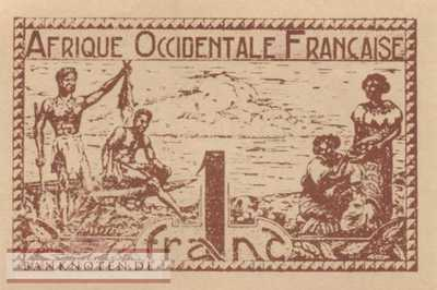 French West Africa - 1  Franc (#034b_UNC)