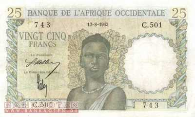 French West Africa - 25  Francs (#038-43_VF)