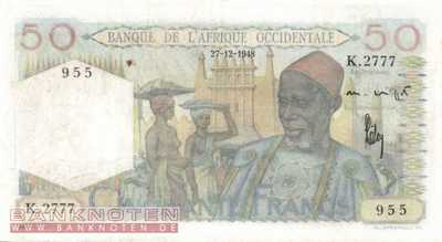 French West Africa - 50  Francs (#039-48_VF)