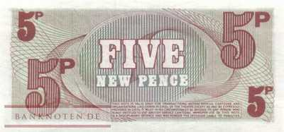 Great Britain - 5  New Pence (#M044_UNC)