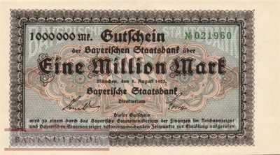Bayern - 1 Million Mark (#BAY218c_UNC)