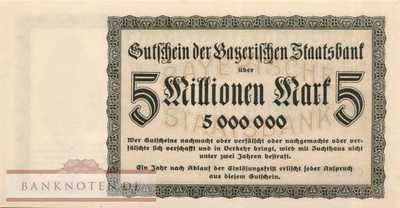Germany - 5 Millionen Mark (#BAY220a_UNC)