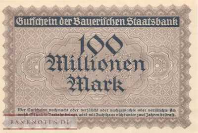 Germany - 100 Million Mark (#BAY224a_UNC)