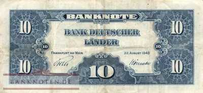 Germany - 10  Deutsche Mark (#BRD-04-N_F)