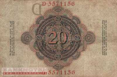 Germany - 20  Mark (#DEU-029_F)