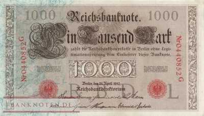 Germany - 1.000  Mark (#DEU-040c_UNC)