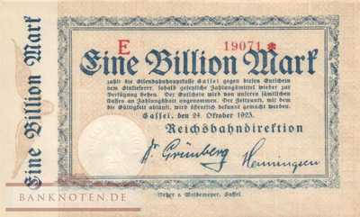 Reichsbahn Cassel - 1 Billion Mark (#RB004_24b_UNC)