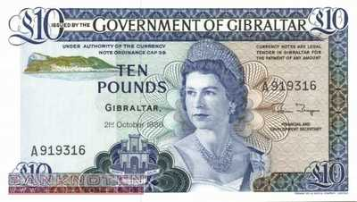 Gibraltar - 10  Pounds (#022b_UNC)