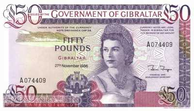 Gibraltar - 50  Pounds (#024_UNC)