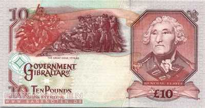 Gibraltar - 10  Pounds (#026a_UNC)