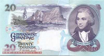 Gibraltar - 20  Pounds (#027a_UNC)