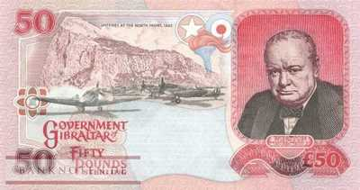 Gibraltar - 50  Pounds (#028a_UNC)