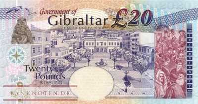 Gibraltar - 20  Pounds (#031a_UNC)