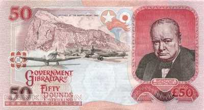 Gibraltar - 50  Pounds (#034a_UNC)