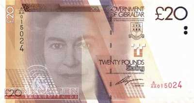 Gibraltar - 20  Pounds (#037_UNC)