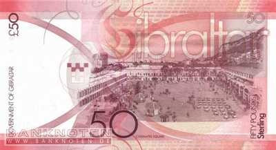 Gibraltar - 50  Pounds (#038_UNC)