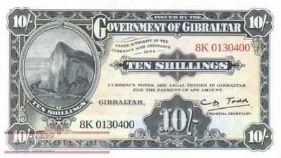 Gibraltar - 10  Shillings - commemorative (#041_UNC)