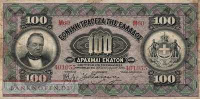 Greece - 100  Drachmai (#053_F)