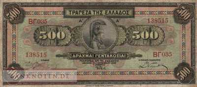 Greece - 500  Drachmai (#102a_F)