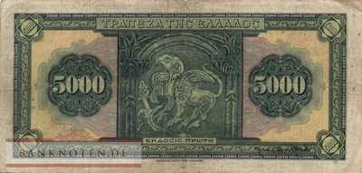 Greece - 5.000  Drachmai (#103a_F)