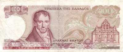 Greece - 100  Drachmai (#200a_F)