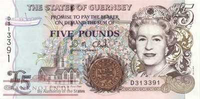 Guernsey - 5  Pounds (#056c_UNC)