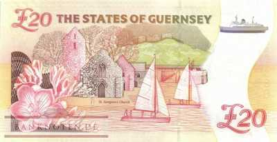 Guernsey - 20  Pounds (#058c_UNC)